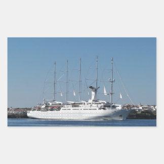 Five Masted Cruise Ship Rectangular Sticker