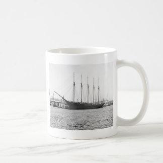 Five-Masted Schooner, 1800s Coffee Mug