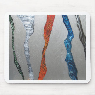 Five Metallic Tornadoes (metallic expressionism) Mouse Pad