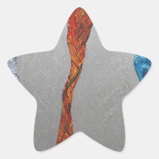 Five Metallic Tornadoes (metallic expressionism) Star Sticker