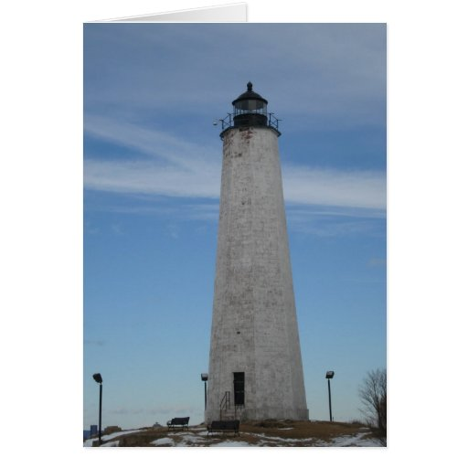 Five Mile Point Lighhouse New Haven CT Harbor Card