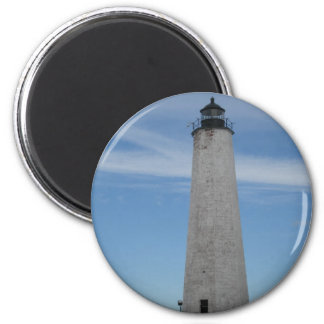 Five Mile Point Lighthouse New Haven CT  Harbor 2 Inch Round Magnet