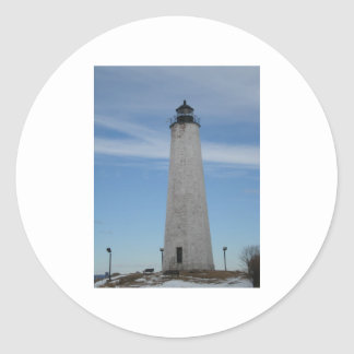 Five Mile Point Lighthouse New Haven CT  Harbor Classic Round Sticker