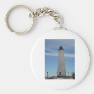 Five Mile Point Lighthouse New Haven CT  Harbor Keychain