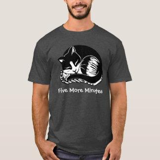 Five More Minutes Cat Men's Charcoal T-Shirt