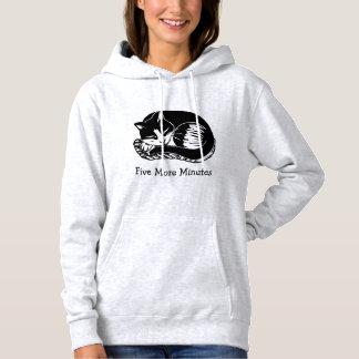 Five More Minutes Cat Women's Hooded Sweatshirt