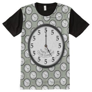 FIVE O'CLOCK CLOCK All-Over-Print T-Shirt