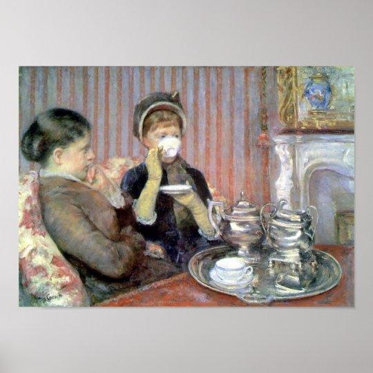 Five O'Clock Tea Mary Cassatt Fine Art Poster