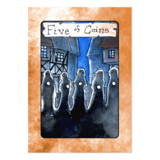 Five of Coins Business Card