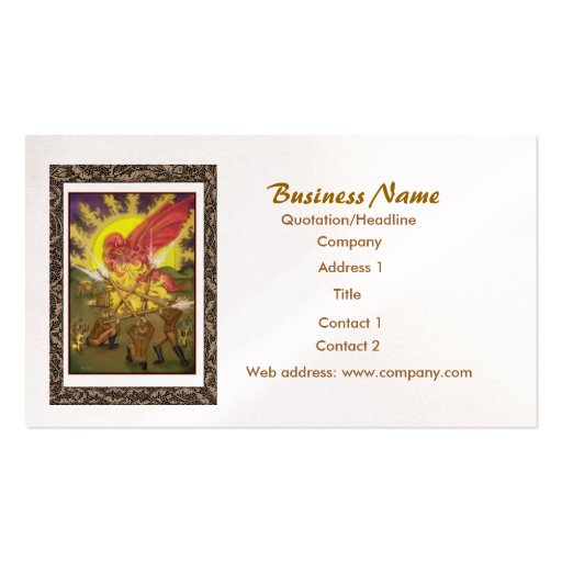 Five of wands tarot business card zazzle for Tarot business cards