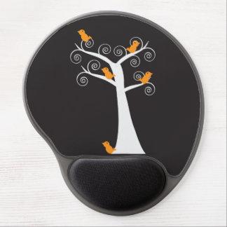 Five Orange Birds in a Tree Gel Mouse Pad