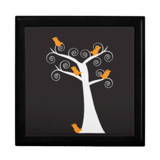 Five Orange Birds in a Tree giftbox Gift Box