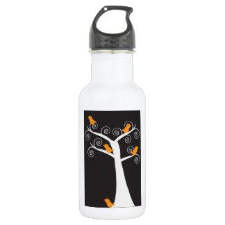 Five Orange Birds in a Tree Liberty Bottle 18oz Water Bottle