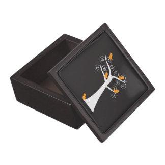 Five Orange Birds in a Tree Premium Gift Box