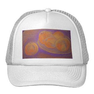 Five Oranges in Orange and Purple Trucker Hat