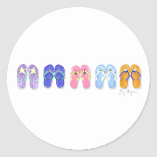 Five Pairs of Flip-Flops Sticker