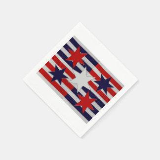 Five Patriotic Stars & Stripes Paper Napkin