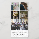 """Five Photo   Married Couple Forever Thankful Thank You Card<br><div class=""""desc"""">Five Photo   Married Couple Forever Thankful</div>"""