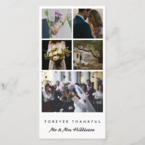 Five Photo | Married Couple Forever Thankful Thank You Card