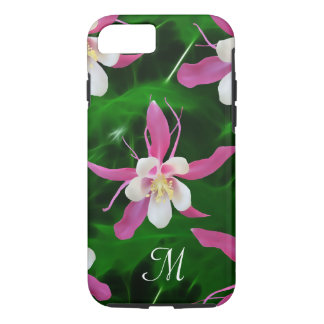 Five Pink Columbine flowers iPhone 7 Case