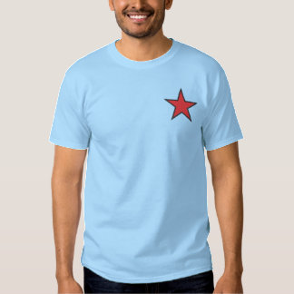 Five Point Star Embroidered T-Shirt