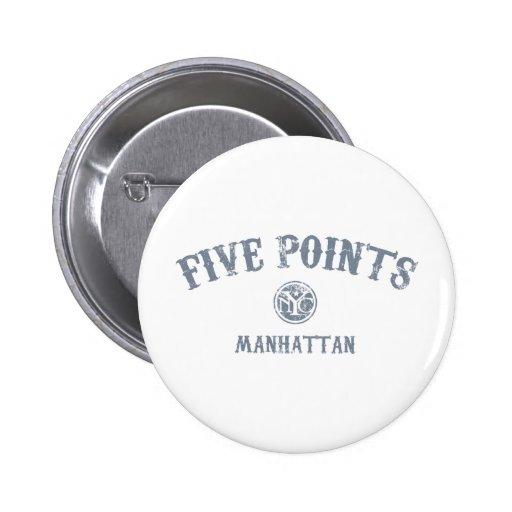 Five Points Button