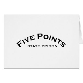 Five Points Logo State Prison Logo Note Cards