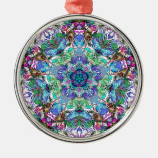 Five Points of Color Abstract Metal Ornament