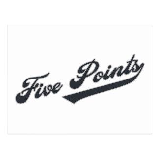 Five Points Postcard