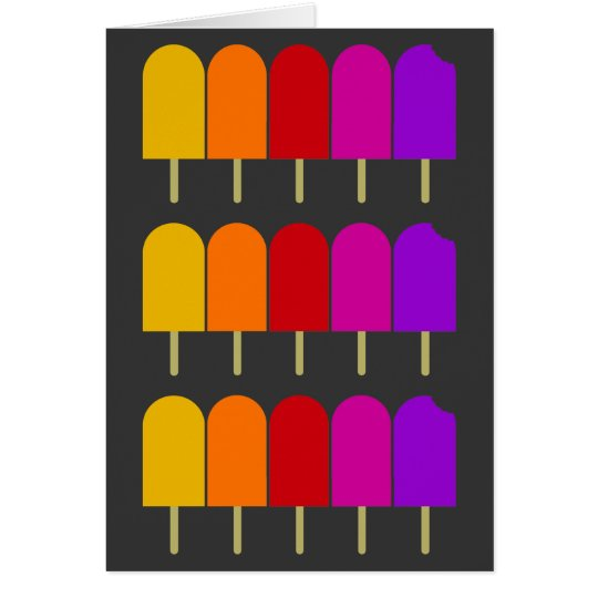 Five Popsicles Card
