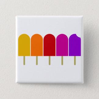 Five Popsicles Pinback Button