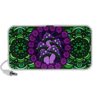 Five Purple Mushrooms Doodle Speaker
