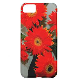Five Red Flowers Cover For iPhone 5C