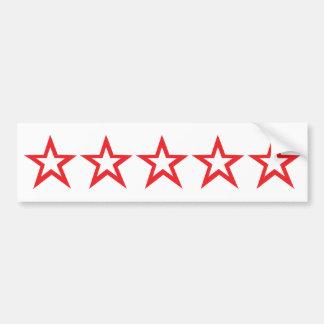 five red stars icon bumper sticker