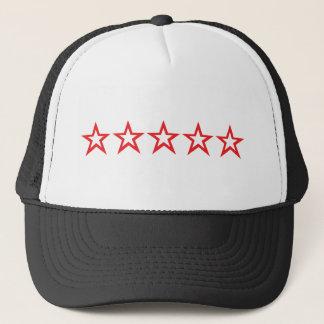 five red stars icon trucker hat