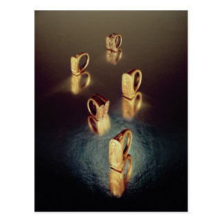 Five rings, from the Tomb of Tutankhamun Postcard