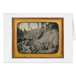 Five riverbed miners... (40064) greeting card