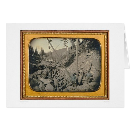 Five riverbed miners... (40064) greeting cards