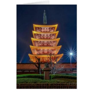 Five-Roof Pagoda at the Asakusa Temple, Tokyo Card