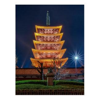 Five-Roof Pagoda at the Asakusa Temple, Tokyo Post Cards