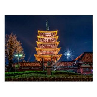 Five-Roof Pagoda at the Asakusa Temple, Tokyo Postcard