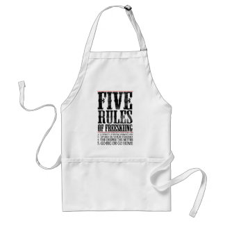 five rules of freeskiing adult apron