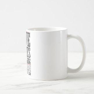 five rules of freeskiing classic white coffee mug