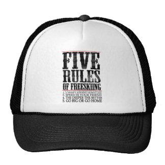 five rules of freeskiing trucker hat