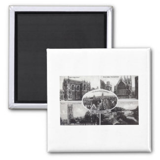 Five Scenes of Oxford England Vintage 2 Inch Square Magnet