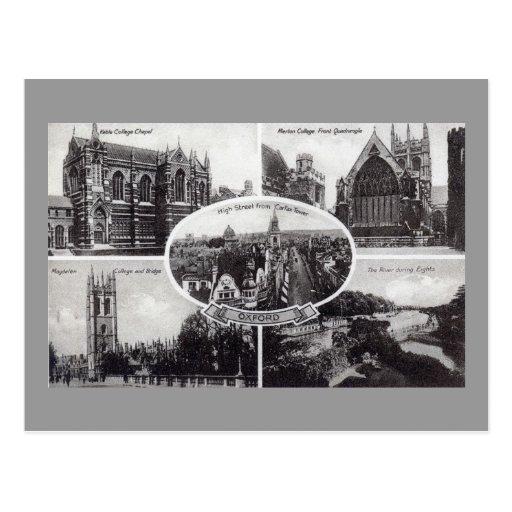 Five Scenes of Oxford England Vintage Post Card