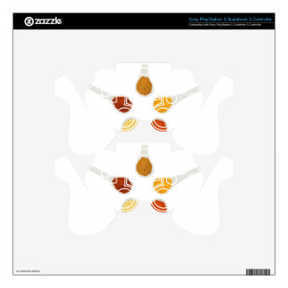 Five seasoning spices on porcelain spoons PS3 controller skins