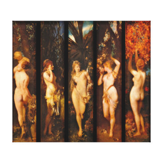 Five Senses 1872 Stretched Canvas Prints