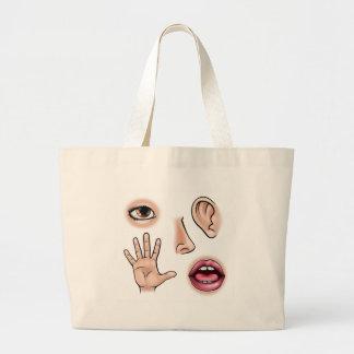 Five Senses Large Tote Bag