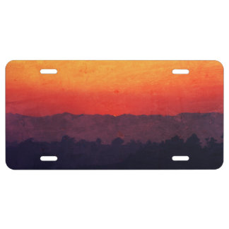Five Shades of Sunset Painting License Plate